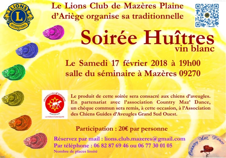 huitres 2018 flyer